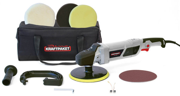 DINO KRAFTPAKET 640228 Rotationspoliermaschine Display 230V 1500W Ø150mm